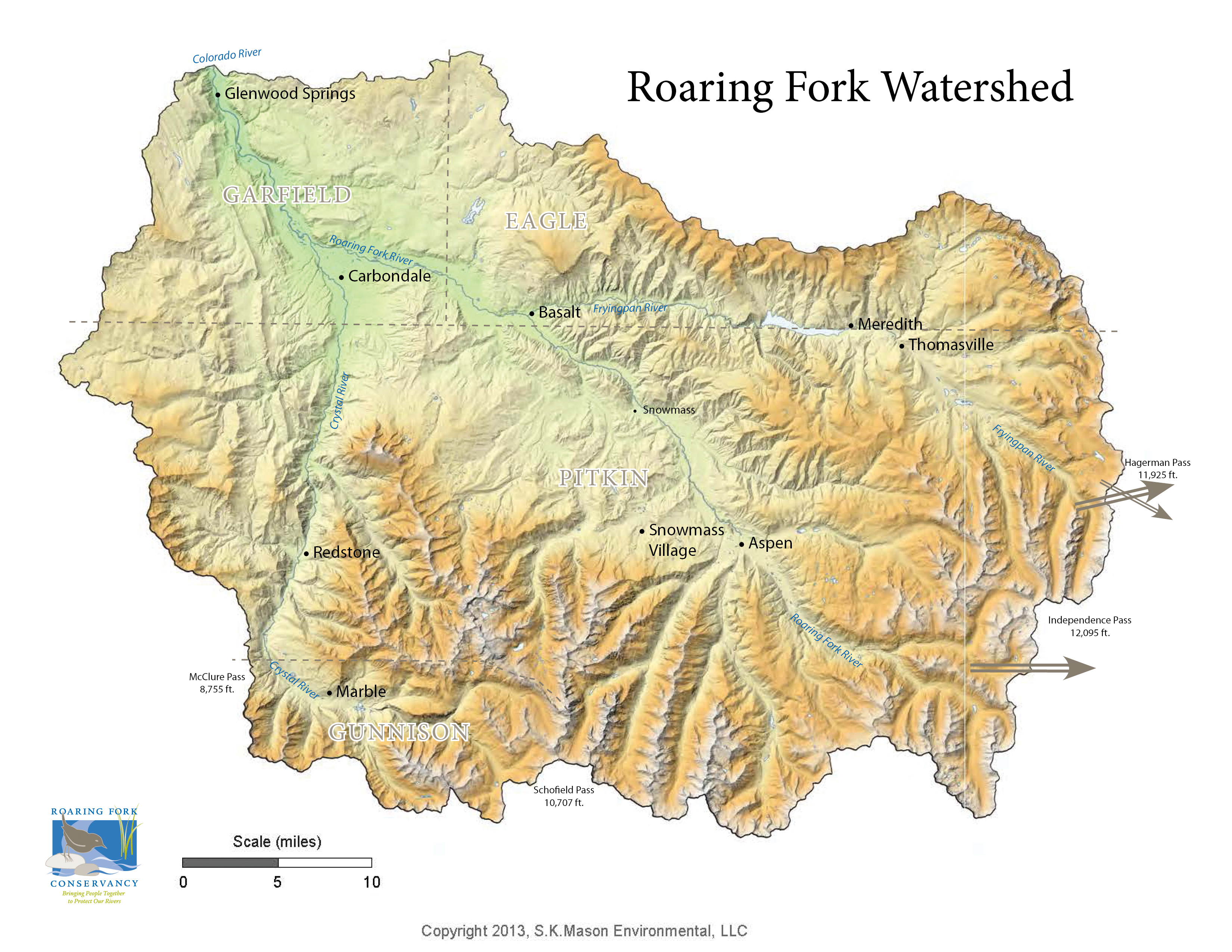 RFC Roaring Fork Watershed Facts - Colorado river world map