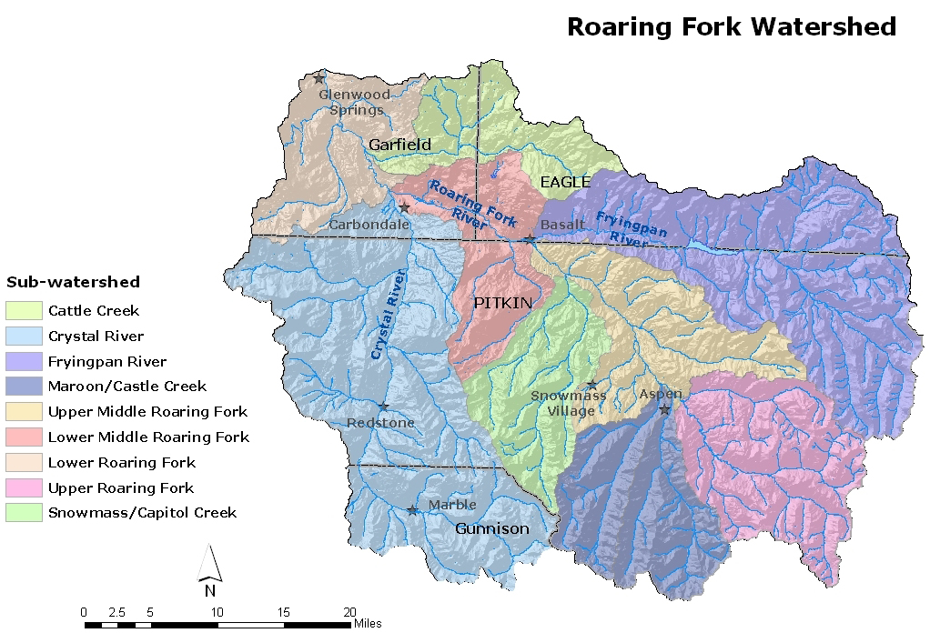 RFC | Roaring Fork Watershed Maps Map on